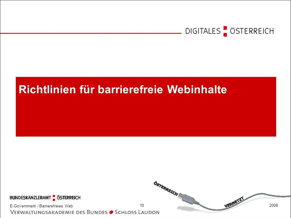 Richtlinien für barrierefreie Webinhalte