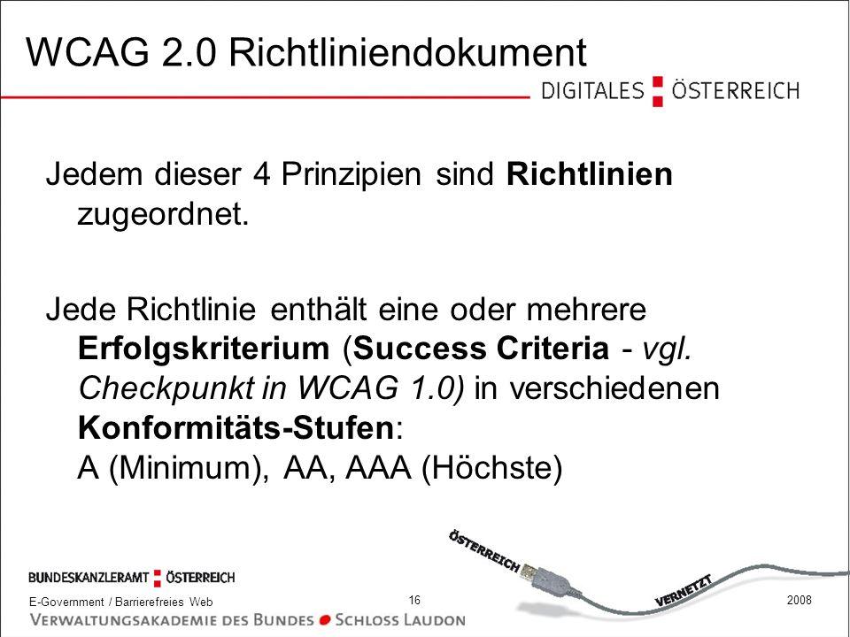 WCAG 2.0 Richtliniendokument