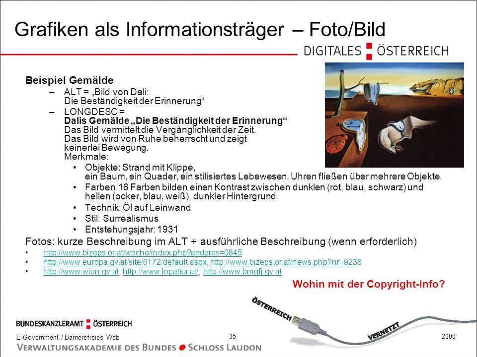 Grafiken als Informationsträger – Foto/Bild