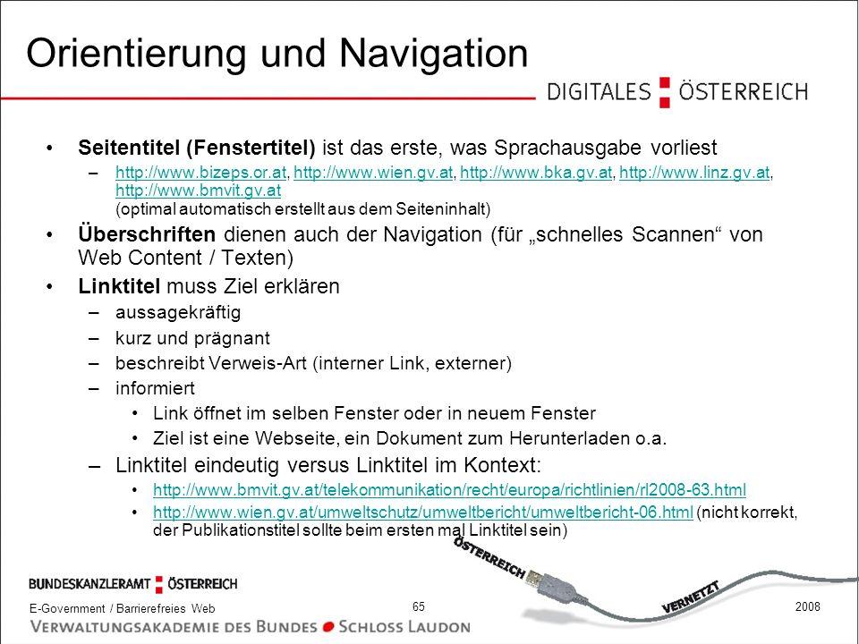Orientierung und Navigation