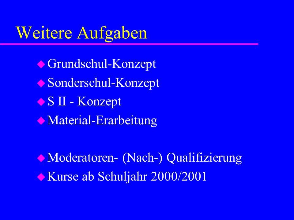 Weitere Aufgaben Grundschul-Konzept Sonderschul-Konzept S II - Konzept