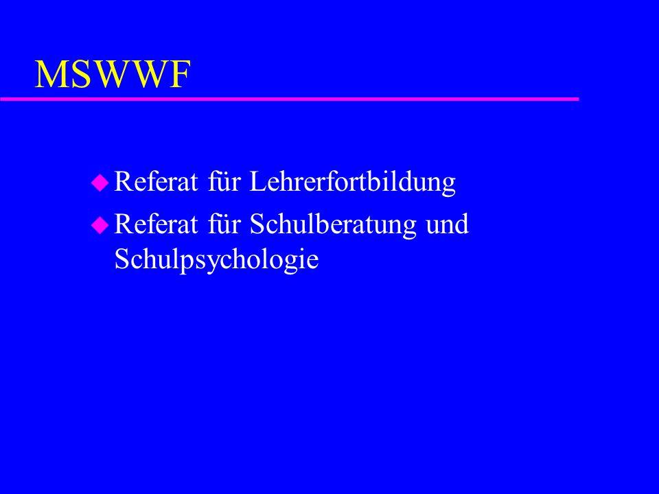MSWWF Referat für Lehrerfortbildung