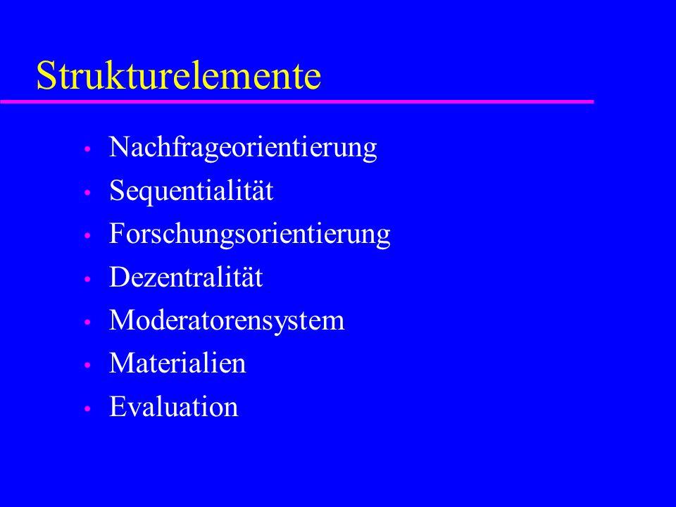 Strukturelemente Nachfrageorientierung Sequentialität