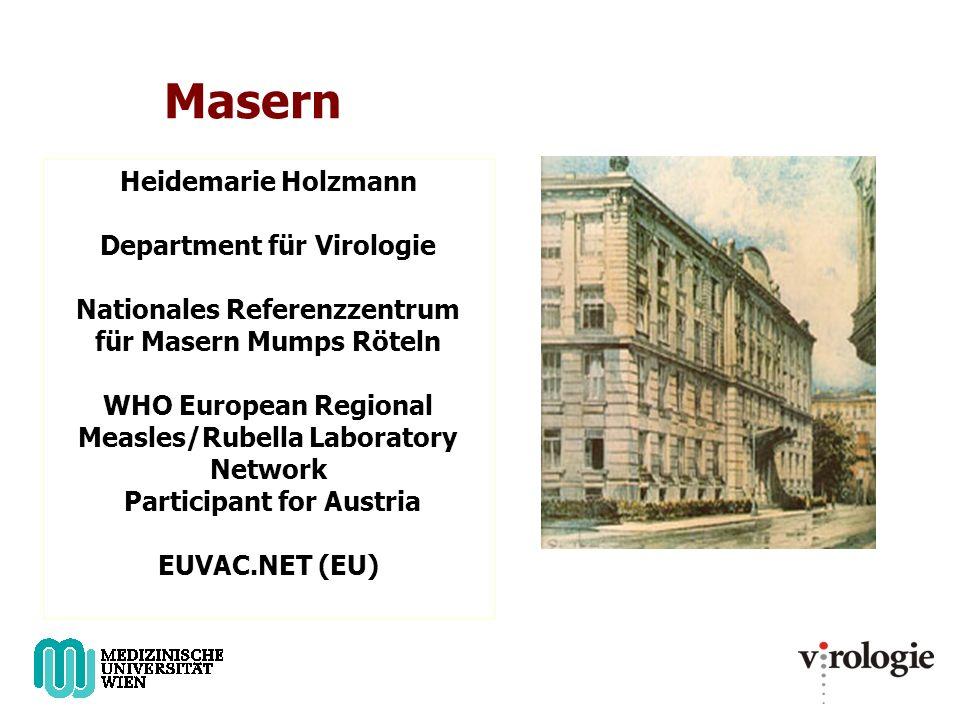 Masern Heidemarie Holzmann Department für Virologie