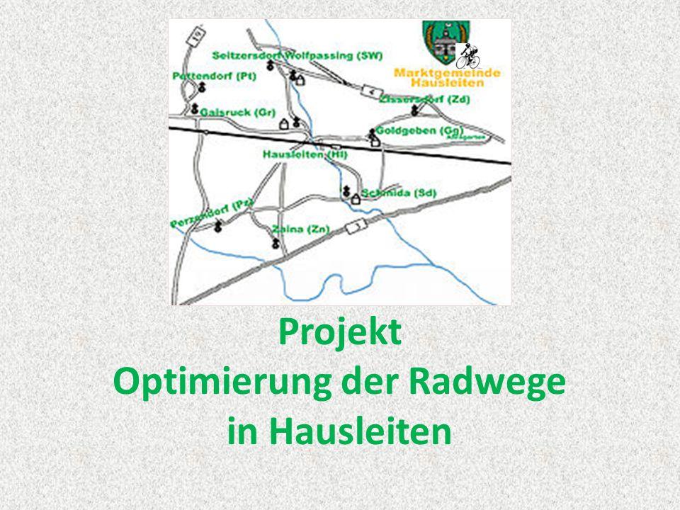 Projekt Optimierung der Radwege in Hausleiten