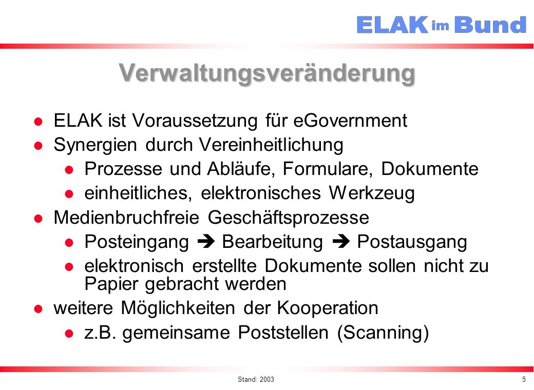 Verwaltungsveränderung