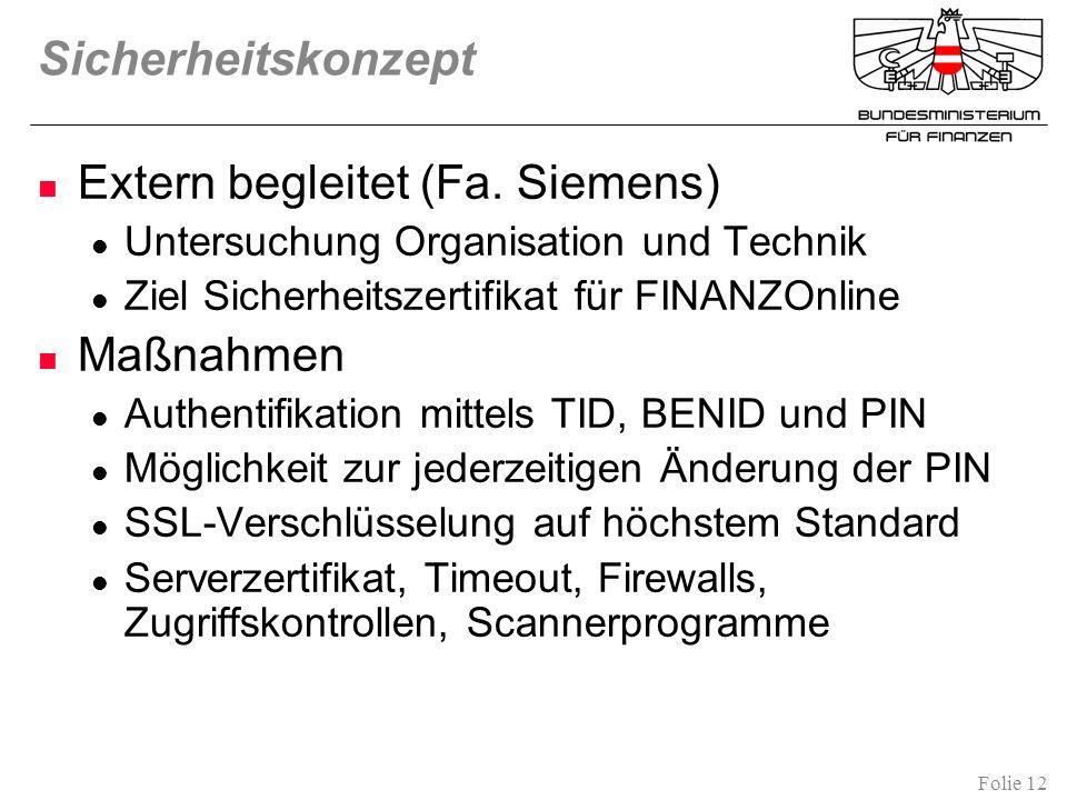 Extern begleitet (Fa. Siemens)