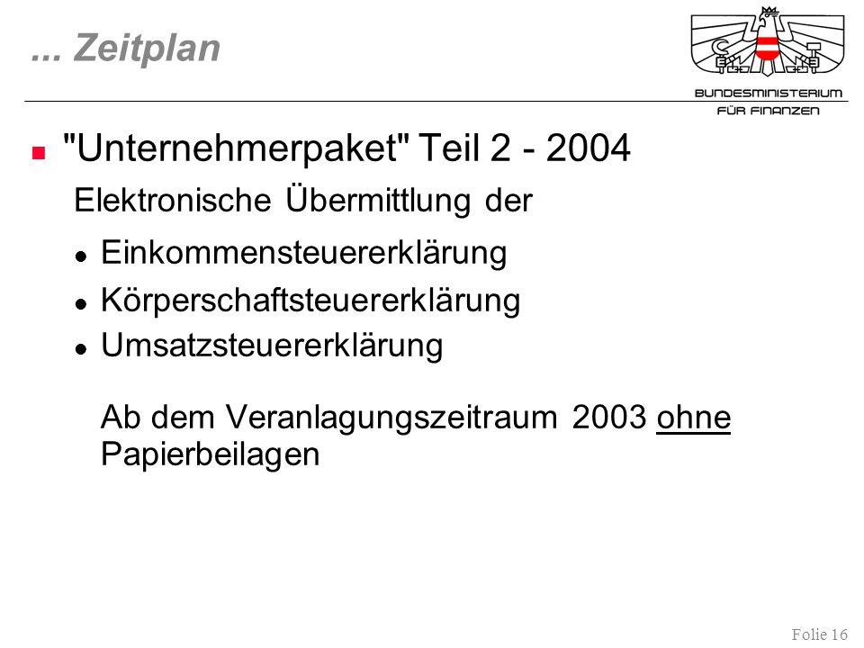 Unternehmerpaket Teil 2 - 2004