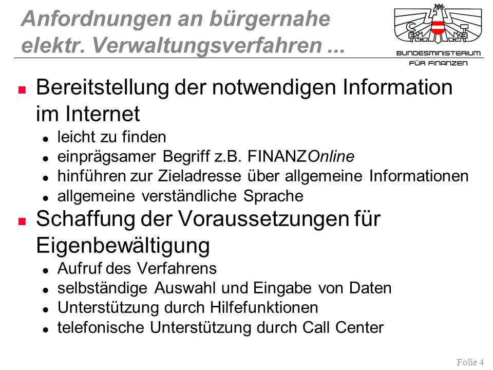 Anfordnungen an bürgernahe elektr. Verwaltungsverfahren ...