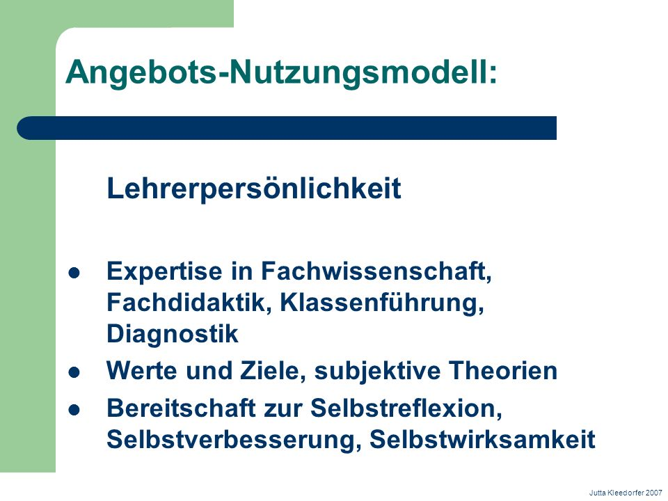 Angebots-Nutzungsmodell: