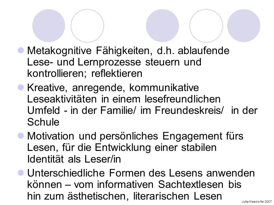 Metakognitive Fähigkeiten, d. h