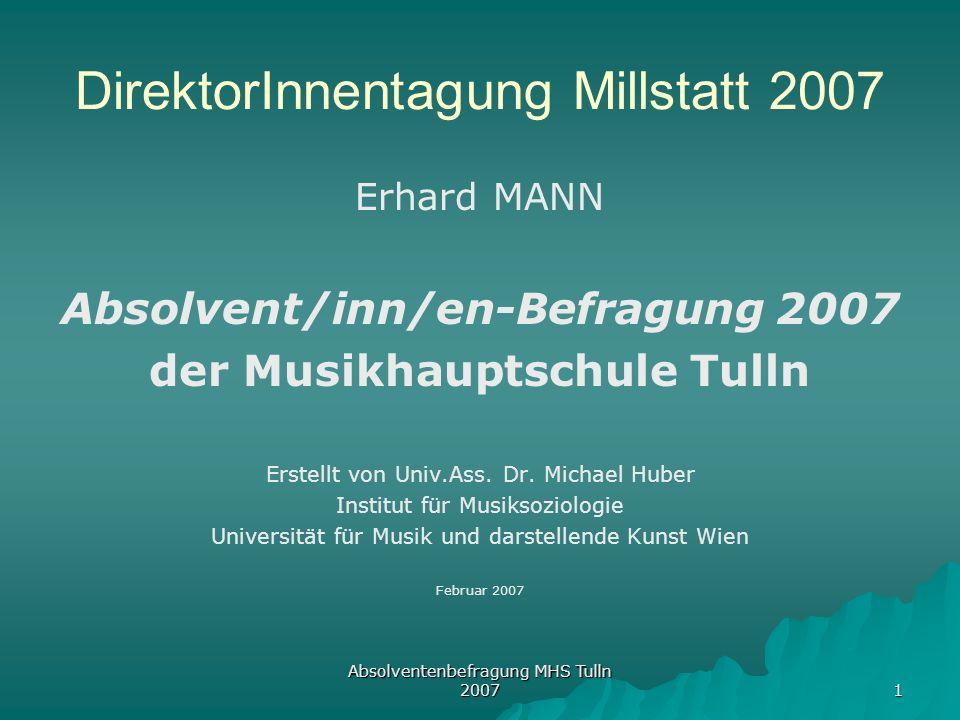 DirektorInnentagung Millstatt 2007
