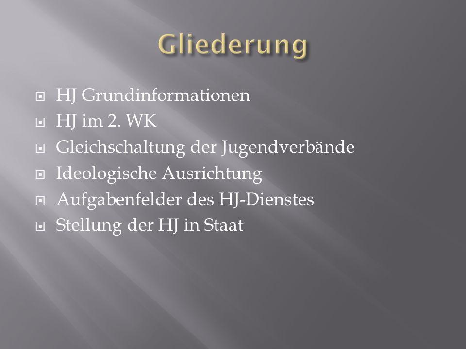 Gliederung HJ Grundinformationen HJ im 2. WK