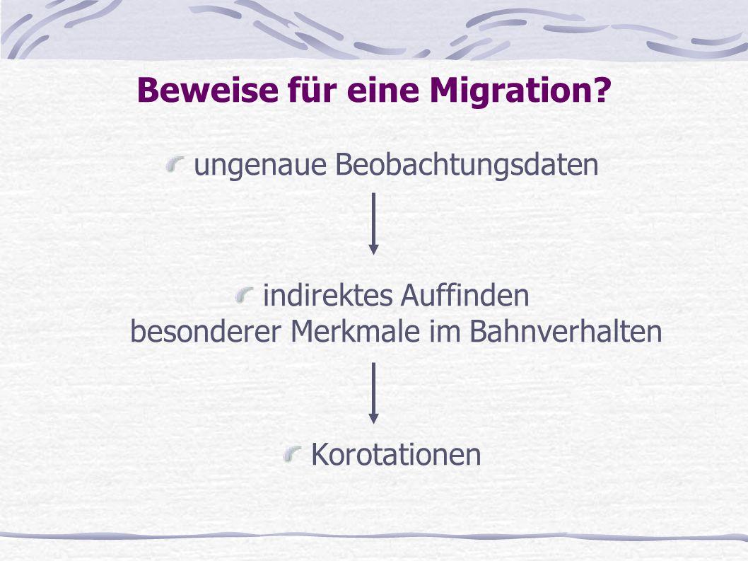Beweise für eine Migration