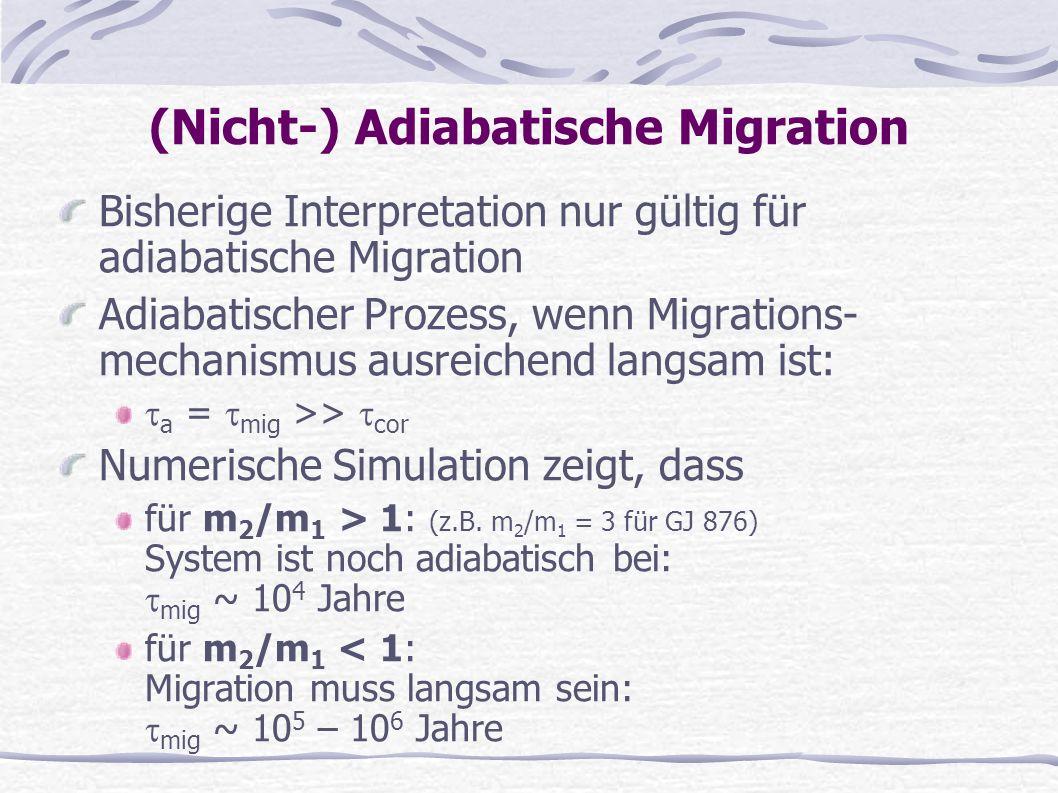 (Nicht-) Adiabatische Migration