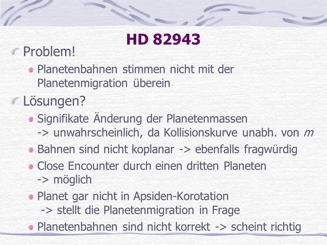 HD 82943 Problem! Planetenbahnen stimmen nicht mit der Planetenmigration überein. Lösungen