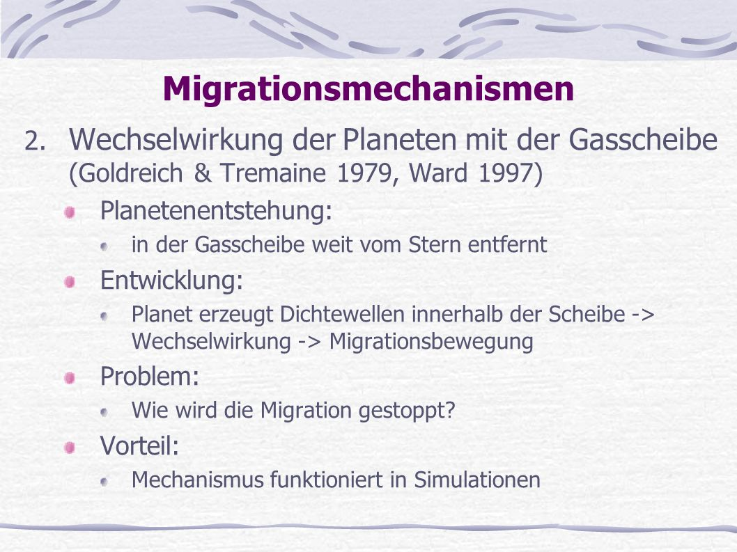 Migrationsmechanismen