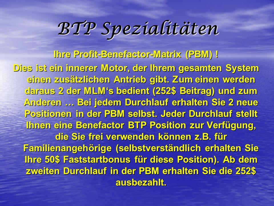 Ihre Profit-Benefactor-Matrix (PBM) !