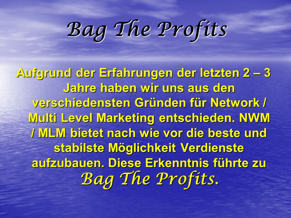 Bag The Profits