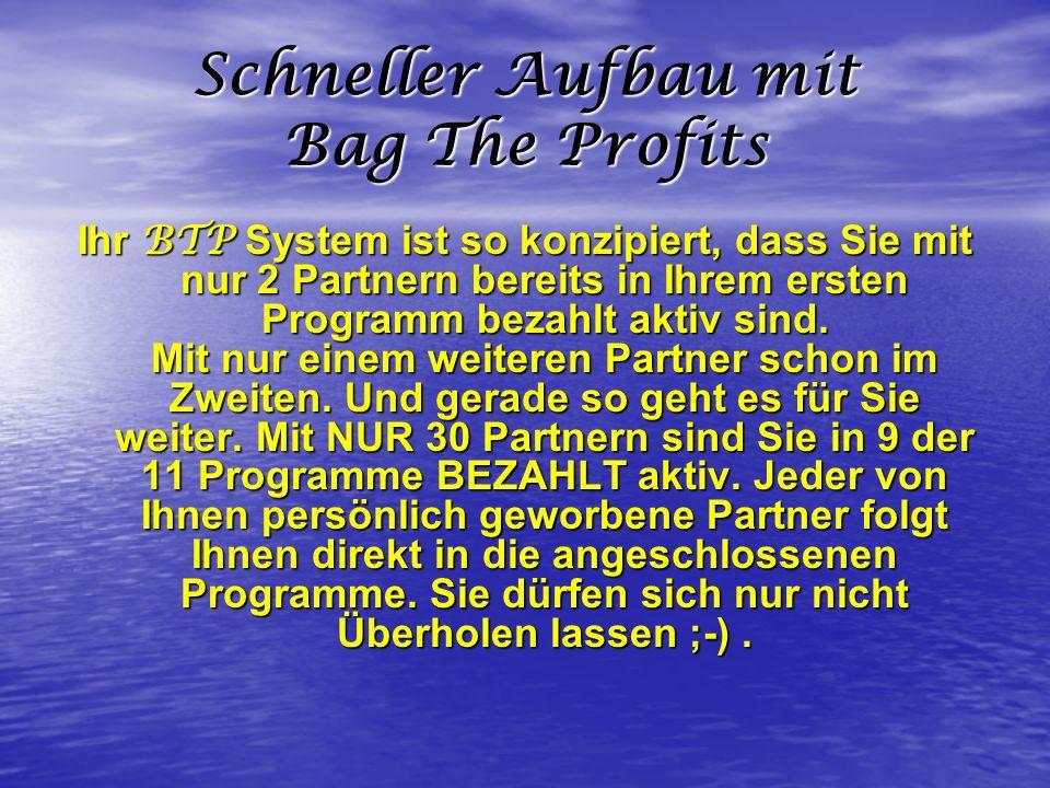 Schneller Aufbau mit Bag The Profits