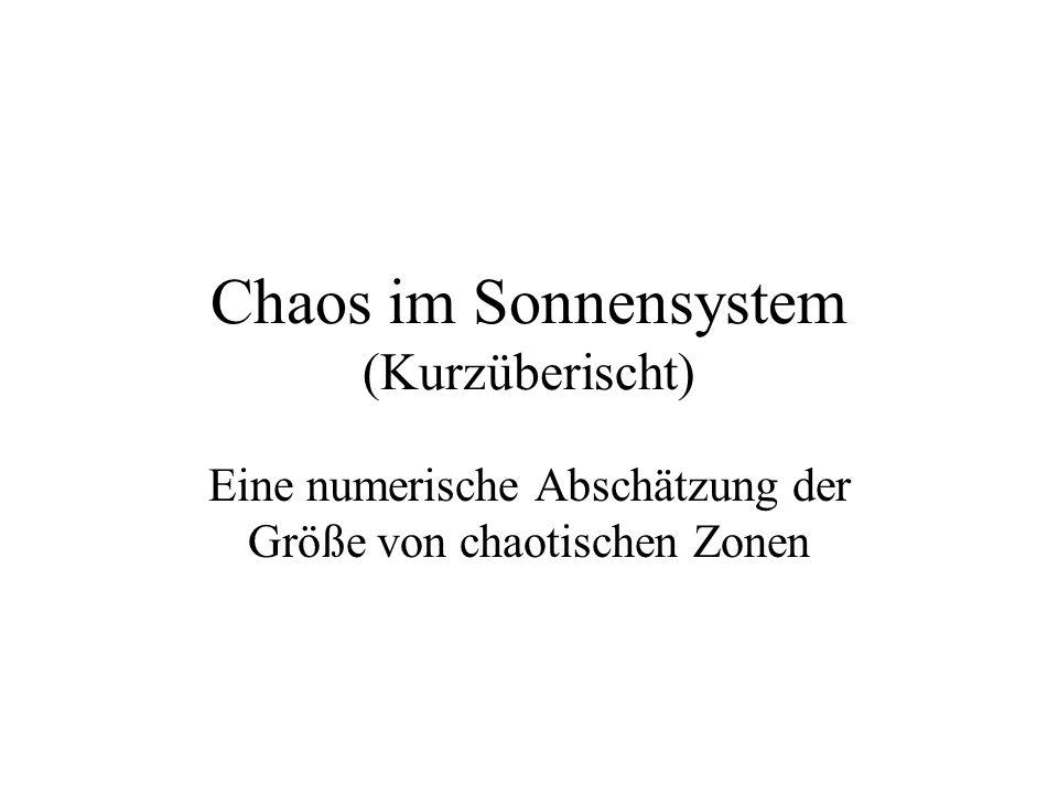 Chaos im Sonnensystem (Kurzüberischt)