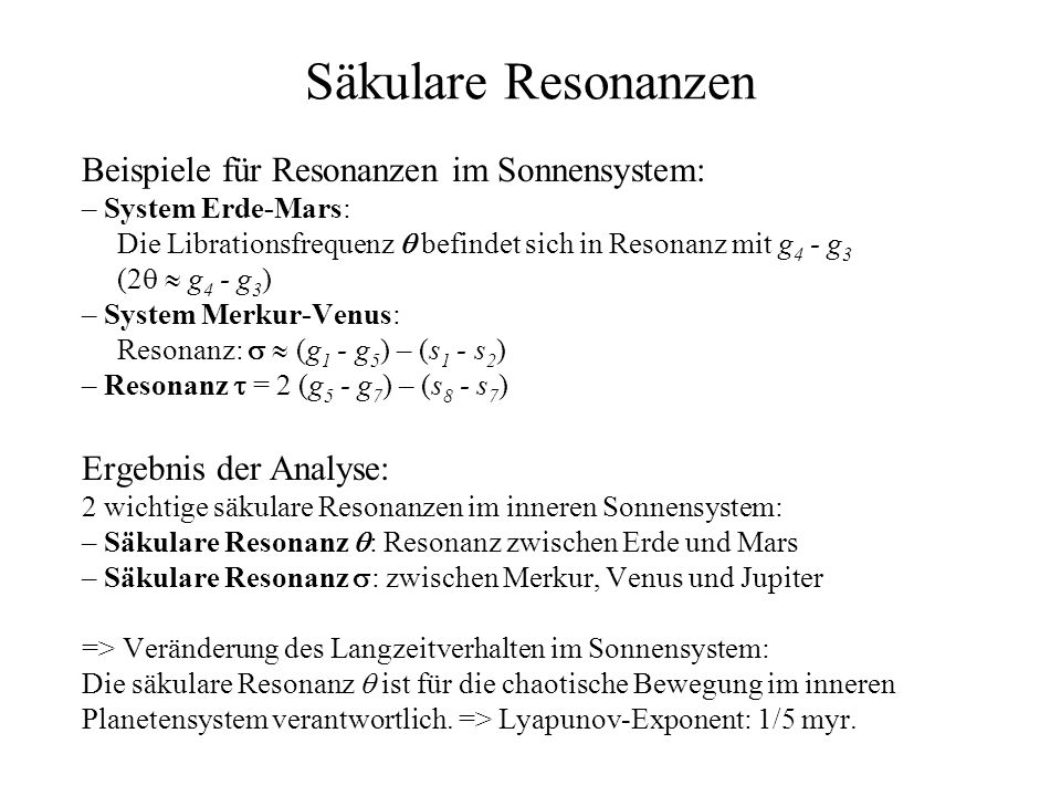 Säkulare Resonanzen
