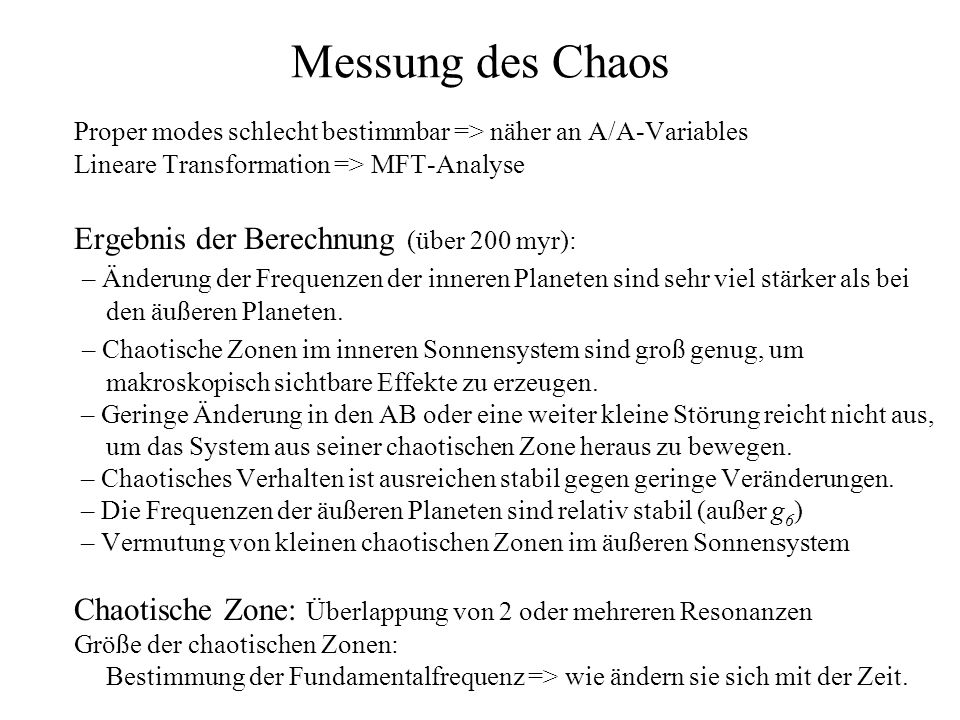 Messung des Chaos