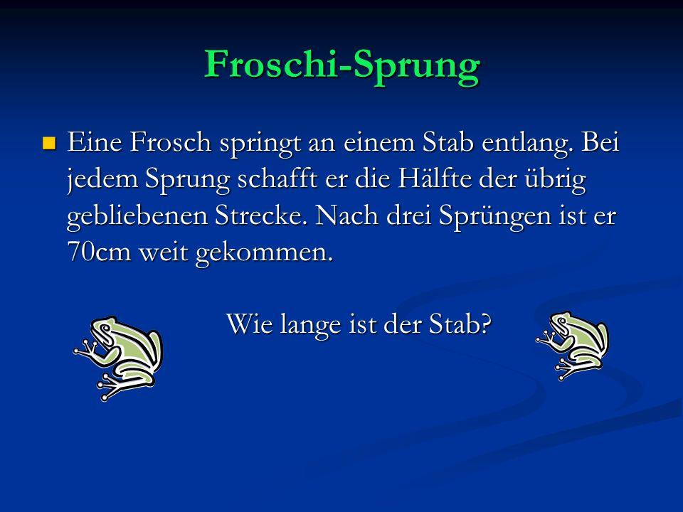 Froschi-Sprung