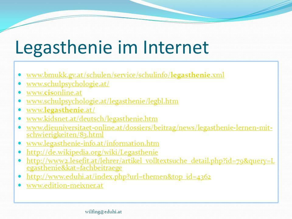 Legasthenie im Internet
