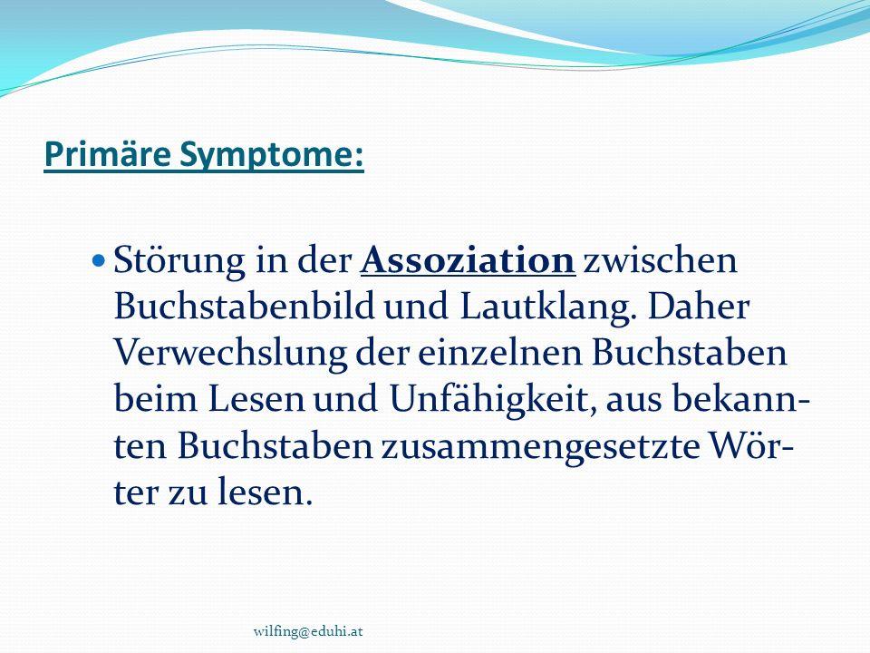 Primäre Symptome: