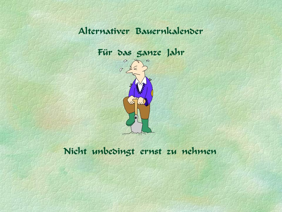 Alternativer Bauernkalender