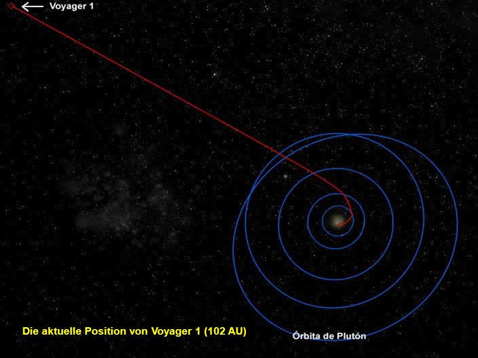 Die aktuelle Position von Voyager 1 (102 AU)