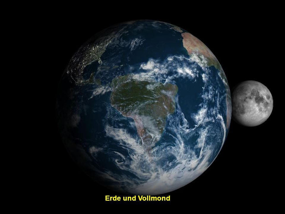 Erde und Vollmond