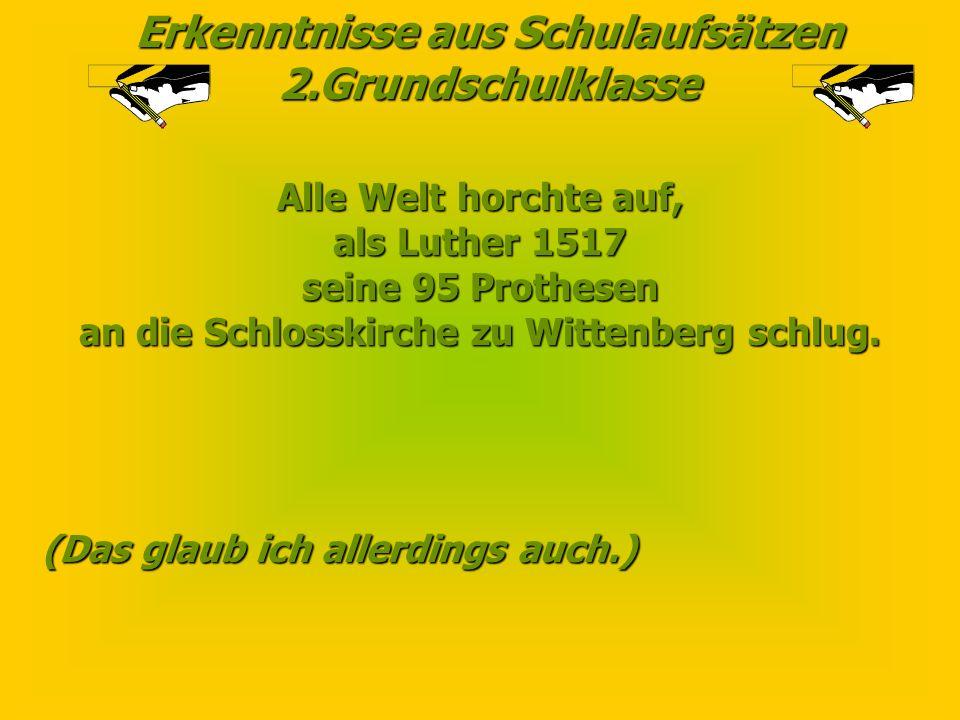an die Schlosskirche zu Wittenberg schlug.