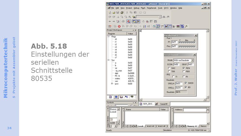 Abb. 5.18 Einstellungen der seriellen Schnittstelle 80535