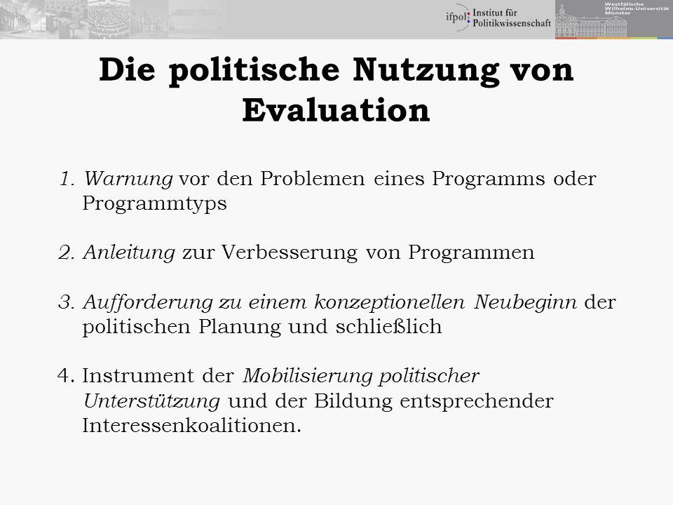 Die politische Nutzung von Evaluation