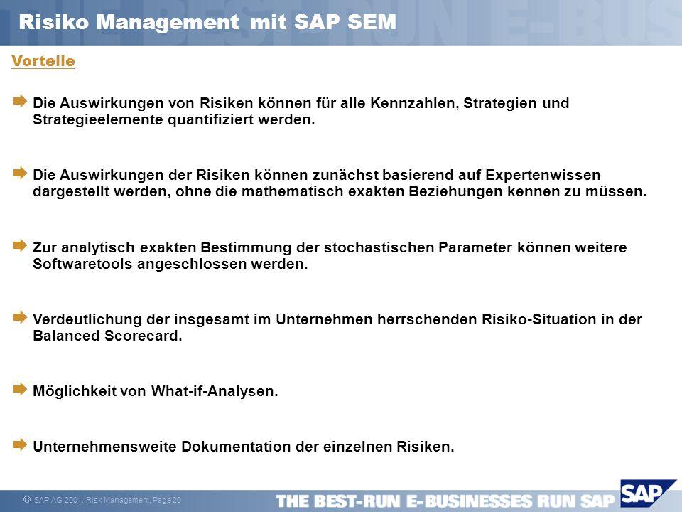 Risiko Management mit SAP SEM
