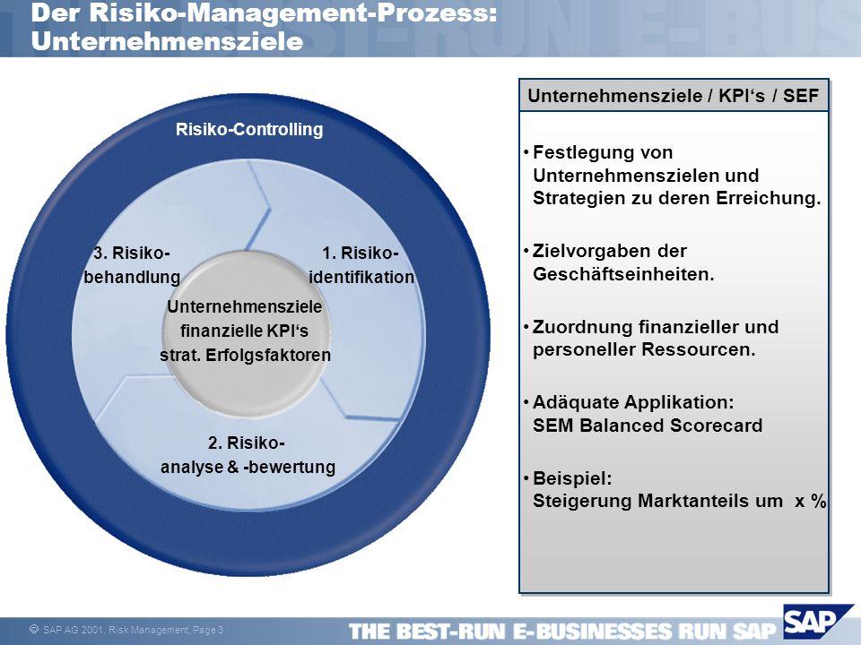 Der Risiko-Management-Prozess: Unternehmensziele