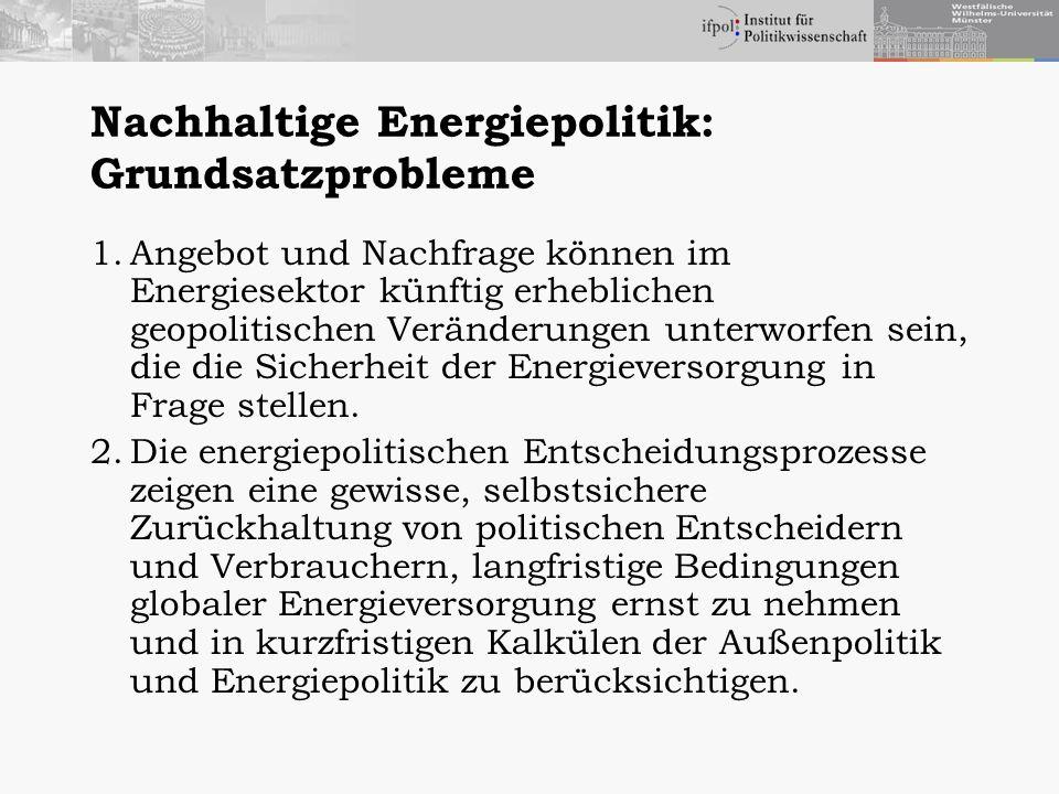 Nachhaltige Energiepolitik: Grundsatzprobleme