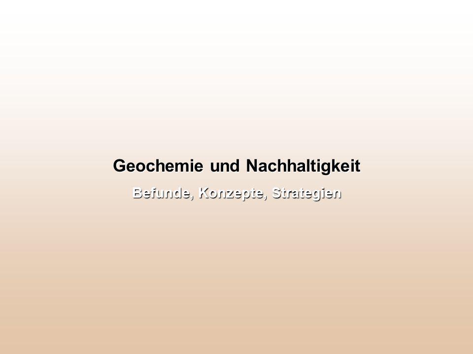 Geochemie und Nachhaltigkeit