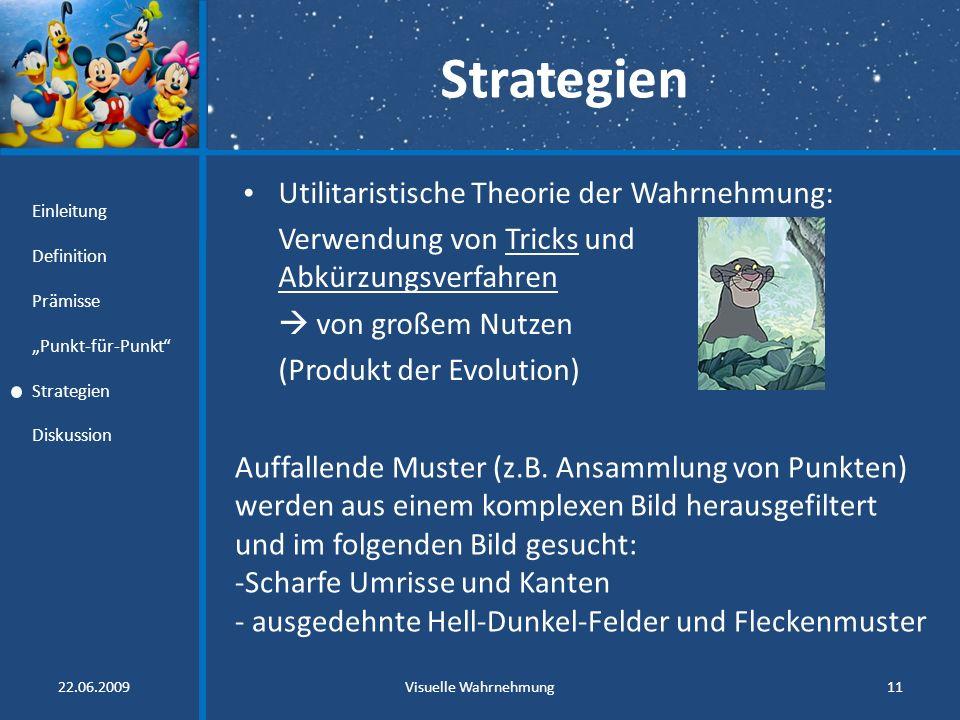 Strategien Utilitaristische Theorie der Wahrnehmung: