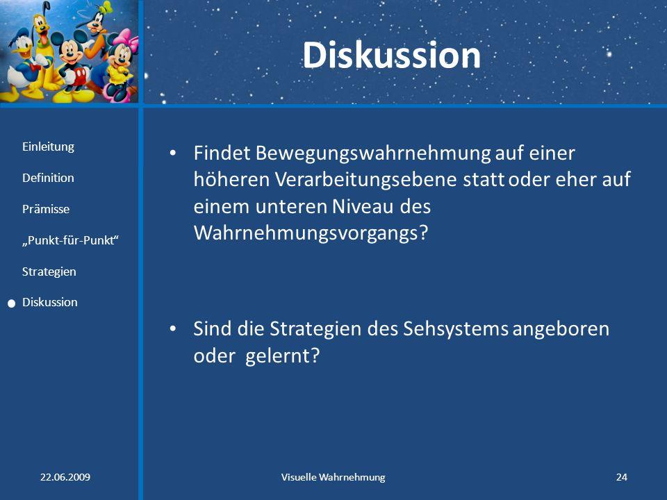 """Diskussion Einleitung. Definition. Prämisse. """"Punkt-für-Punkt Strategien. Diskussion."""