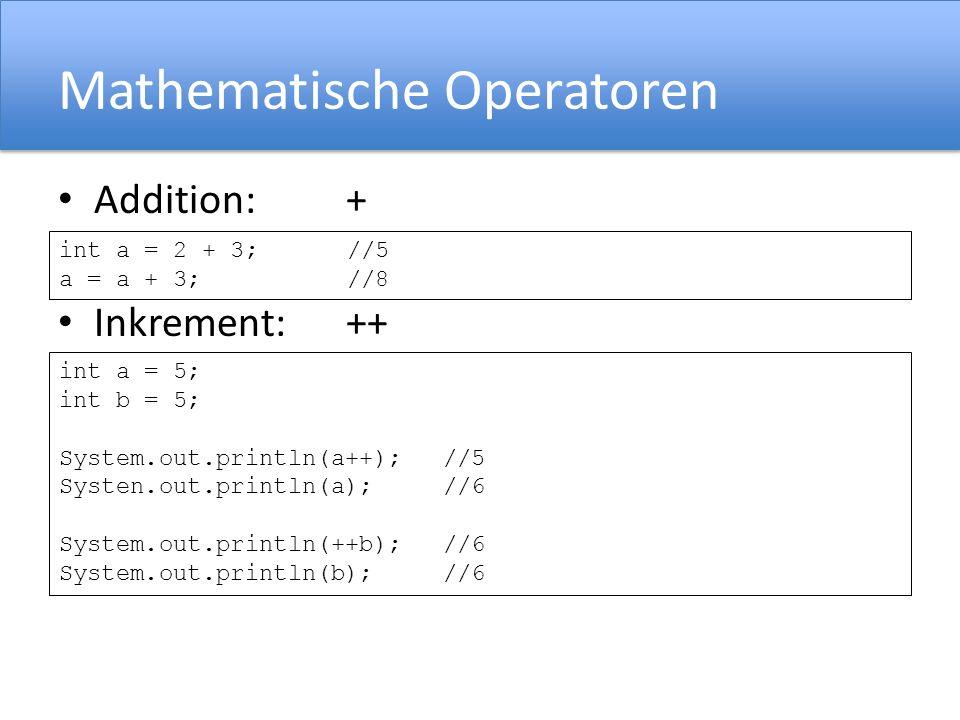 Mathematische Operatoren