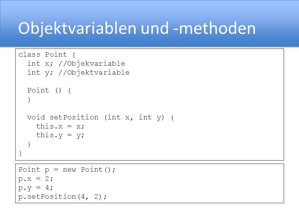 Objektvariablen und -methoden