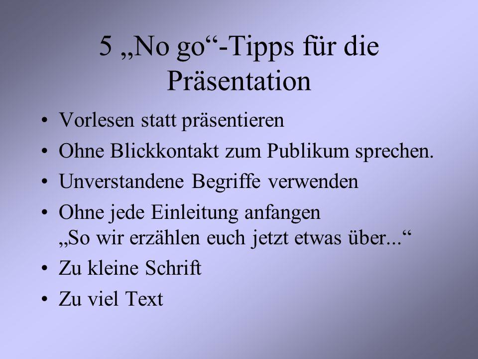 """5 """"No go -Tipps für die Präsentation"""