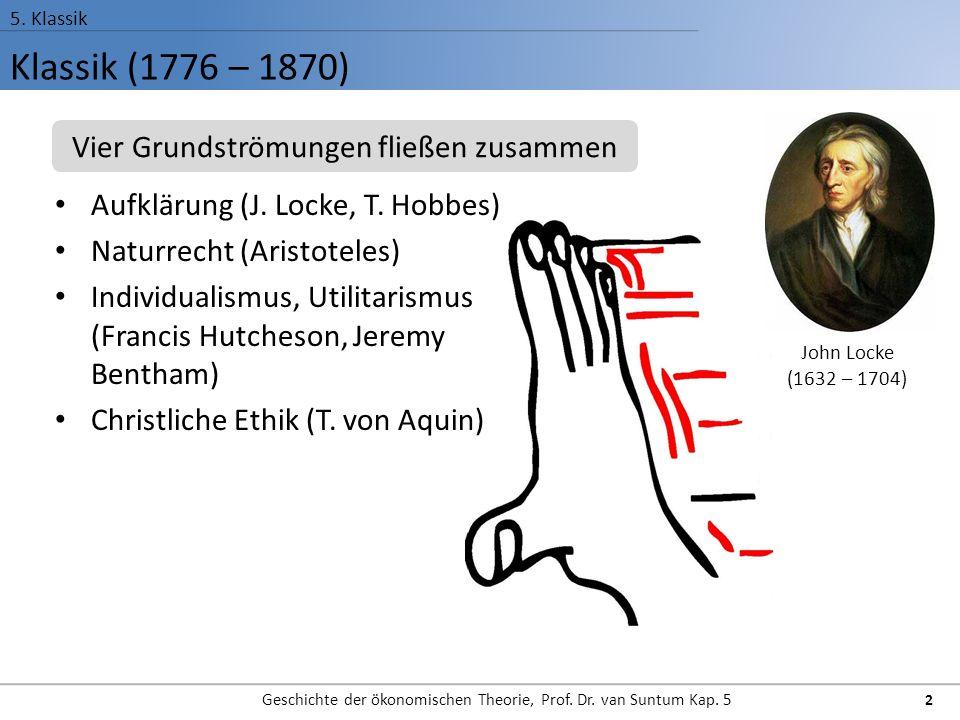 Klassik (1776 – 1870) Vier Grundströmungen fließen zusammen
