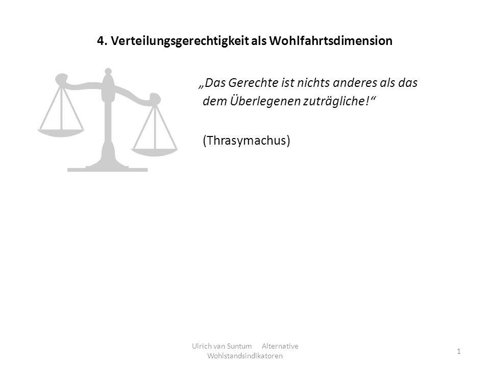 4. Verteilungsgerechtigkeit als Wohlfahrtsdimension