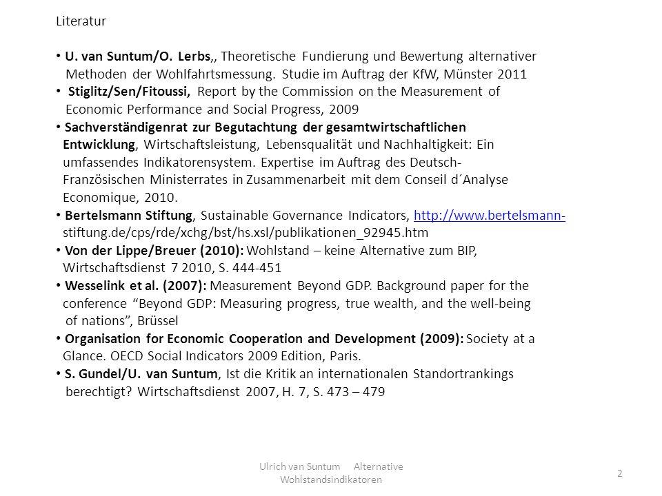 Ulrich van Suntum Alternative Wohlstandsindikatoren