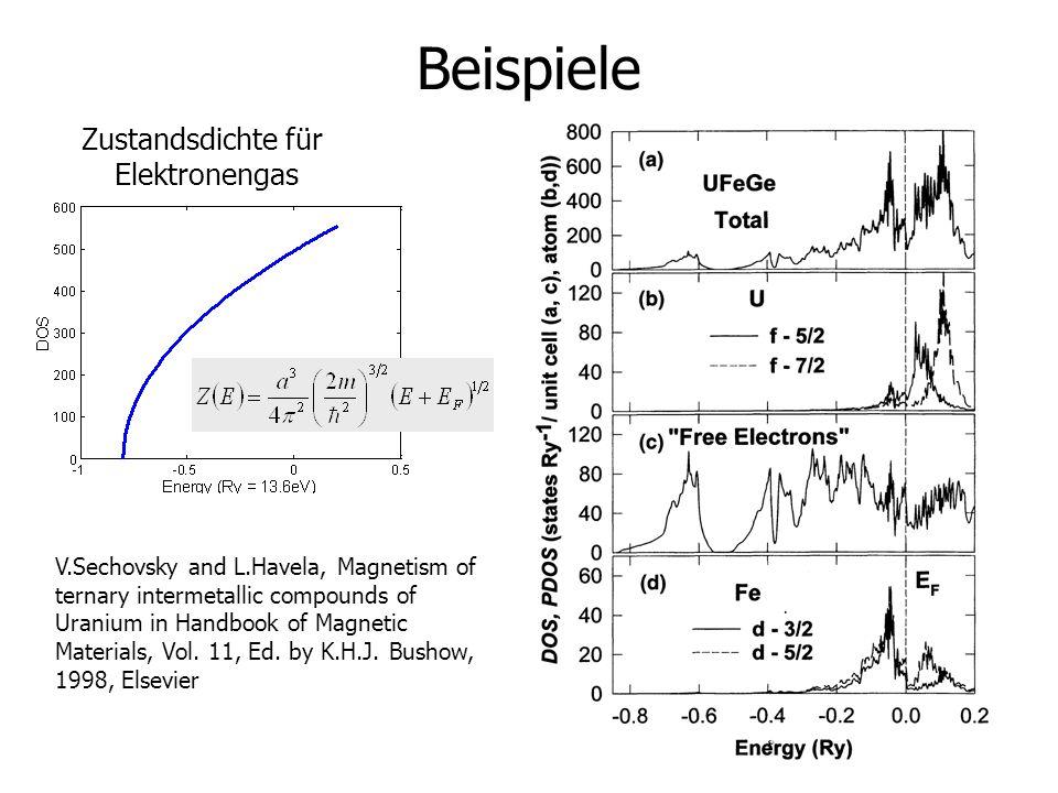 Beispiele Zustandsdichte für Elektronengas