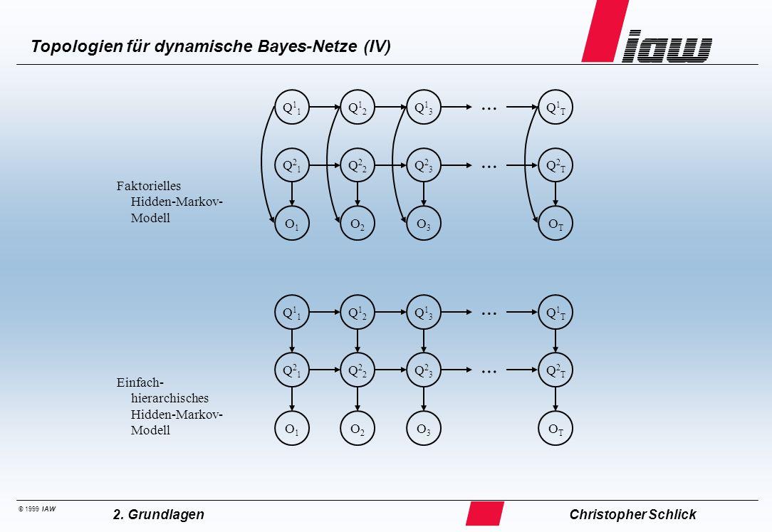 ... Topologien für dynamische Bayes-Netze (V)